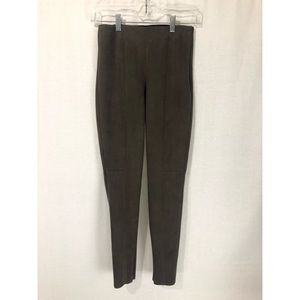 ZARA Basic Brown Faux Leather Legging Pants XS